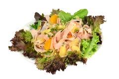 Салат с индюком и ананасом. Стоковое фото RF