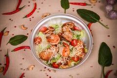 Салат с креветками и салатом Стоковая Фотография