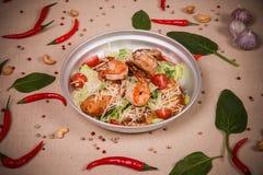 Салат с креветками и салатом Стоковая Фотография RF
