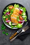 Салат с мясом цыпленка Салат свежего овоща с салатом мяса куриной грудки с филе цыпленка и свежими овощами стоковое фото rf