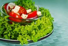 Салат с овощами и зелеными цветами Стоковое фото RF