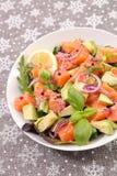 Салат с семгами стоковое изображение