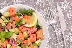 Салат с семгами стоковые изображения