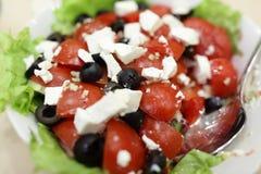 Салат с томатами и сыром Стоковое Изображение