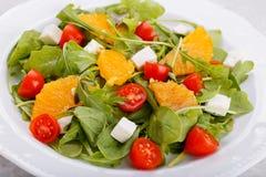 Салат с фета и апельсинами Стоковые Изображения RF