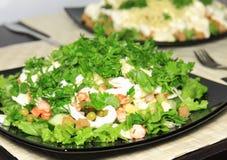Салат с шримсами. стоковая фотография
