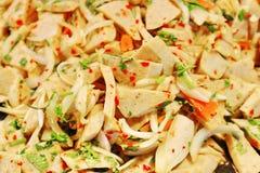 Салат тайского ` Moo Yor ` еды Yum пряный с белой сосиской свинины Стоковые Фото