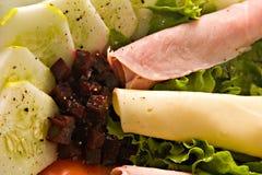 салат тарелки Стоковые Фотографии RF