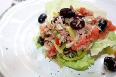 Салат туны с овощами стоковое фото rf
