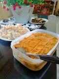 Салат флана и макарон Leche стоковые фотографии rf