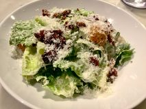 Салат Цезара классицистическо Свежее блюдо салата Взгляд сверху стоковое изображение