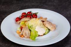 Салат цезарь с цыпленком стоковое фото
