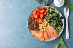 Салат шара Будды с свежими овощами Стоковая Фотография RF