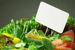 салат шипучки карточки свежий вверх Стоковая Фотография RF