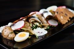 Салат шпротины с яичками Стоковое Изображение RF
