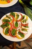 салат capri вкусный свежий Стоковые Фото