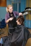 салон волос стоковое изображение rf