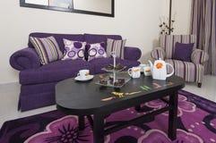 Салон в роскошной квартире стоковое изображение