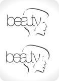 салон логоса красотки Стоковые Фотографии RF