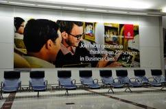 Салон международного аэропорта Дубая на тихом времени стоковая фотография