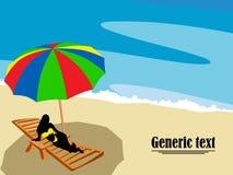 салон пляжа Стоковое Изображение