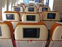 салон самолета Стоковые Фото