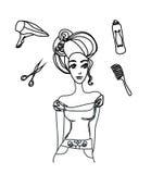салон hairdressing Стоковые Изображения