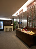 салон vip zhuhai авиапорта стоковая фотография rf