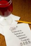 салфетка идей коктеила Стоковое Изображение RF