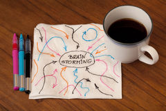 салфетка принципиальной схемы brainstorming Стоковое Изображение