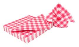 Салфетки красной картины холстинки бумажные стоковое фото rf