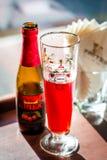 Салфетки пива плодоовощ и стекла пива и бумажных Стоковое фото RF