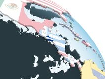 Сальвадор с флагом на глобусе бесплатная иллюстрация