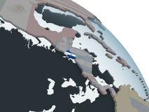 Сальвадор с флагом на глобусе иллюстрация штока