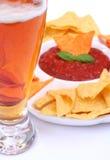 сальса nachos пива Стоковые Изображения RF