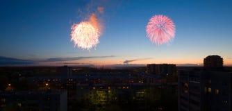 салют независимости дня Стоковые Изображения