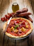 салями пиццы перца Стоковое Изображение