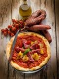 салями пиццы перца стоковые изображения