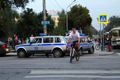 Самара, Россия - 21-ое августа 2014: задержание преступников A стоковое фото rf