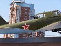 Самара, Россия - 17-ое июля 2010 стрелка кабины и пулемет внутри стоковые изображения