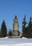 Самая большая скульптура гранита Владимира Ленина Стоковые Изображения RF
