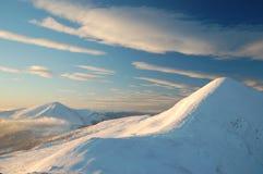 самая высокая гора Украина hoverla Стоковое Изображение RF