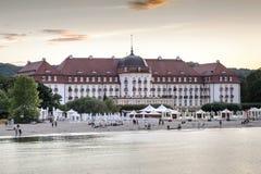 Самая известная гостиница в Sopot, Польше стоковая фотография