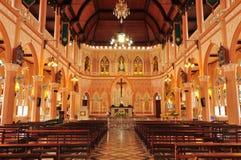 Самая красивая католическая церковь, провинция Chanthaburi, Таиланд Стоковые Изображения RF