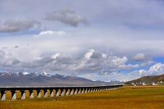 Самая красивая дорога Тибета Стоковая Фотография