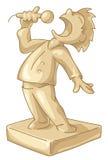 самая лучшая золотистая статуэтка певицы Стоковые Фотографии RF