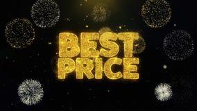 Самая лучшая цена написанная частицы золота взрывая дисплей фейерверков бесплатная иллюстрация
