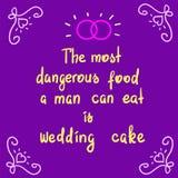 Самая опасная еда человек может съесть свадебный пирог иллюстрация вектора