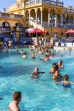 Самая старая ванна Szechenyi целебная самая большая целебная ванна в Европе Стоковое фото RF
