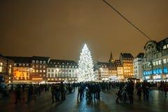 Самая старая рождественская ярмарка в Европе - страсбурге, Эльзасе, Fran Стоковые Изображения